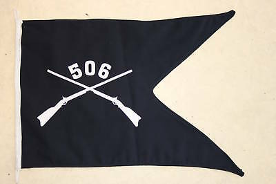 506Th Parachute Infantry Regiment Guidon Flag Abn #1 506 Jeep / Camp