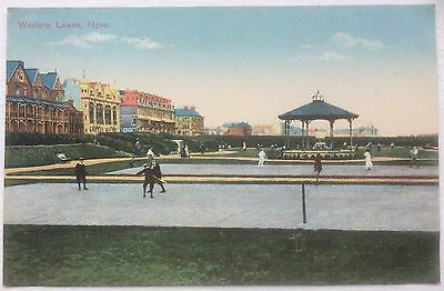HOVE, WESTERN LAWNS, POSTCARD , EDWARDIAN PERIOD, Excellent Condition