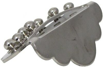 Ashbury MANDOLIN TAILPIECE, Nickel. Small, simple design, for loop ended strings