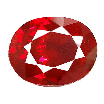 OVAL SHAPE 16.10 Ct BLOOD RED RUBY LAB CREATED CORUNDUM GEMSTONE