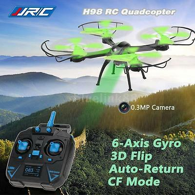 JJRC H98 RC Quadcopter 2.4G 4CH 6-Axis Gyro Drone 0.3MP Camera CF Green UK A1T6