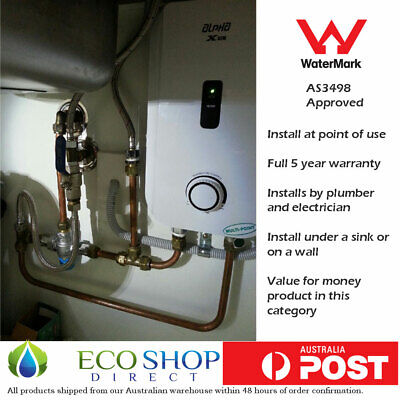 """Instant Electric Hot Water System Alpha 6 kW """"Under the Sink"""" (like Gleamous)"""