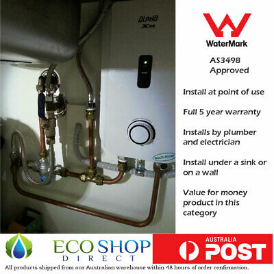 "Instant Electric Hot Water System Alpha X3 6 kW ""Under the Sink"" (like Gleamous)"