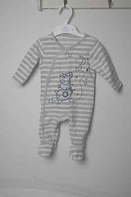 Boys Fleece Sleep Suit 0-3 Months- Excellent Condition- Hardly Worn