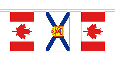 Nova Scotia & Canada Polyester Friendship Flag Bunting - 20m with 56 Flags