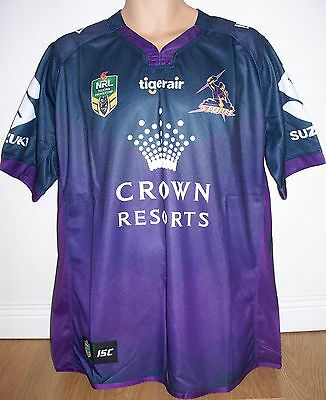 "MELBOURNE STORM - RUGBY LEAGUE- NRL AUSTRALIA - SMALL app 38"" CHEST  - BRAND NEW"