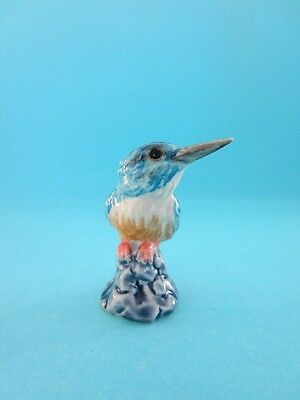KINGFISHER ON ROCK FIGURINE SO CUTE HARD TO FIND DISCONTINUED *Mint*