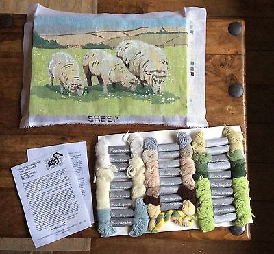 Needlepoise Country Collection Tapestry Needlepoint Kit Sheep Pure New Wool