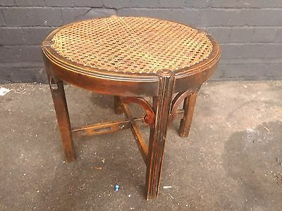 Antique cained stool