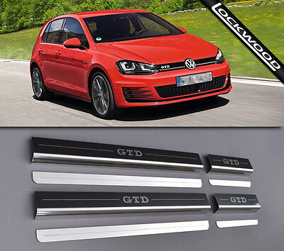 VW Golf Mk7 GTD (Released 2013) 4 Door Sill Protectors / Kick plates
