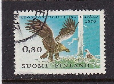 Finland #490 Used Nature Conservation Year (Golden Eagle)