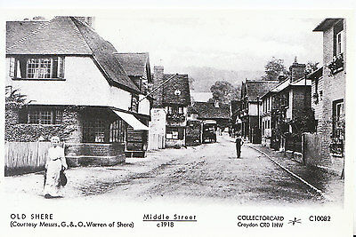 Surrey Postcard - Old Shere - Middle Street c1918    1502