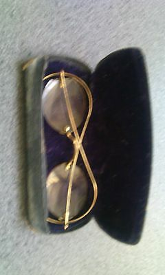 ANTIQUE GOLD SPECTACLES READING GLASSES  Louis Madelin.