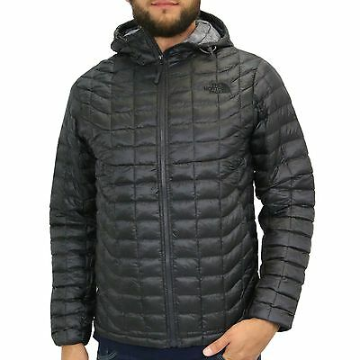 The North Face Thermoball Hoodie Jacke Winterjacke Outdoor Herren Grau Größe S