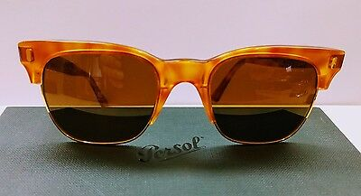 RARE VINTAGE PERSOL RATTI SUNGLASSES CELLOR 18kt GOLD PLATED. MINT!