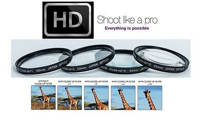 Pro Hi Def 4-Pcs 1//+2//+4//+10 Macro Close-Up Lens Kit for Panasonic HC-X1