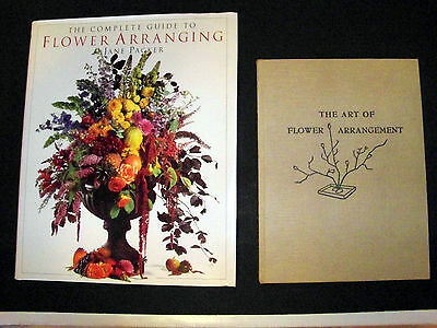 2 Books on Flower Arranging by Ishimoto 1947 and Jane Packer 1995 Hardcover