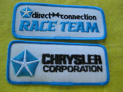 "Chrysler And Direct Connection Race Team Patches 5""X2"" X5"" X 2"""