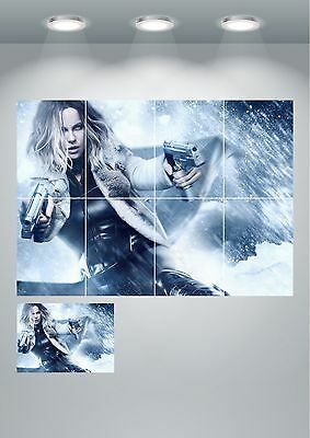 Kate Beckinsale Underworld Wall Art Poster Print A3/A4 Sections or Giant 1Piece