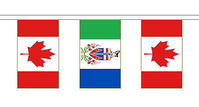 Yukon & Canada Polyester Friendship Flag Bunting - 20m with 56 Flags