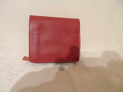 Ladies small brown leather purse Tula