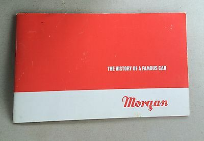 """MORGAN """"The HISTORY OF A FAMOUS CAR"""" Mini Book To 1975"""