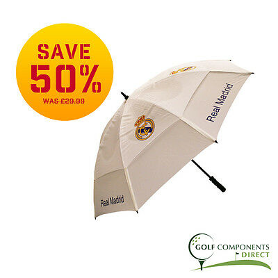 Premier Licensing Real Madrid Double Canopy Golf Umbrella