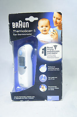 Braun THERMOSCAN 5 Ear Thermometer IRT 6500 infants/children/adults NEW