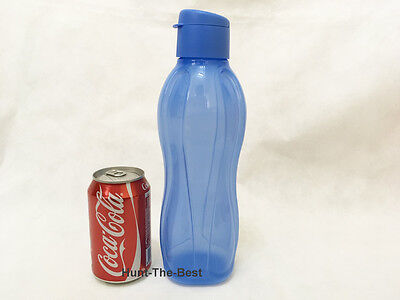 New Tupperware H2O On The Go Eco Water Drink Bottle Sport Flip Top Cap 1.0L (1)