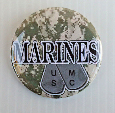 United States Marine Corp * Buttons * Mirrors * Magnets *  Usmc Dog Tag