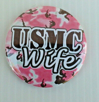 United States Marine Corp * Buttons * Mirrors * Magnets *  Usmc Wife