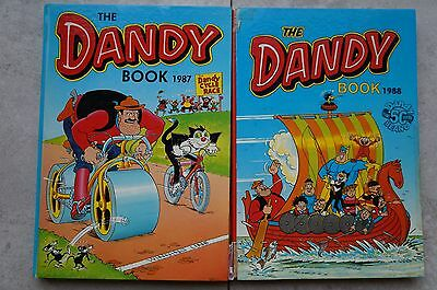 2 x The Dandy Annuals - 1987 & 88 - Good Condition
