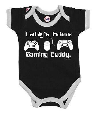 BritTot Baby Grow Gift DADDYS Future Gaming Buddy Boys Girls Bodysuit xbox Vest