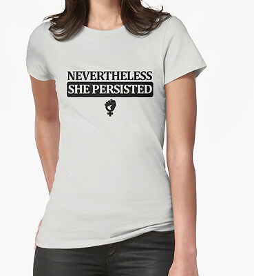 Nevertheless She Persisted T Shirt Anti Protest Resist Trump Elizabeth Warren-GW