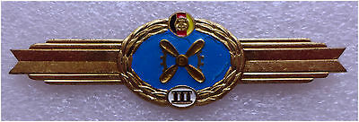 East Germany DDR Air Force Flight Mechanic Wings of Thitd Class. 1985-1990