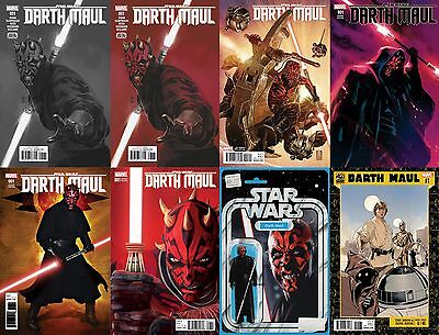 Star Wars DARTH MAUL 1 Variant Set of 8 1:100 Sketch 1:50 Brooks ++ Rare VF