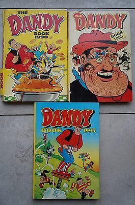 3 x The Dandy Annuals - 1990, 93 & 95 - Good Condition