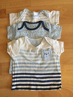 Baby Boy Mothercare T.Shirt Set x 3 Age 3-6 Months Never Worn RRP£12