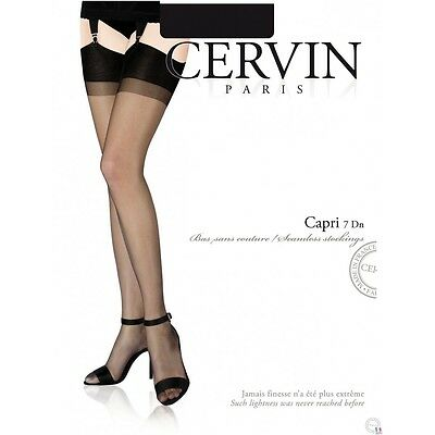 Strapsstrümpfe CERVIN CAPRI 15den Nylon Stokings Pin-up Burlesque