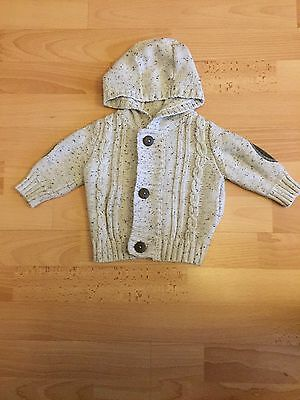 M&Co Boys Hooded Cardigan Age 3-6 Months