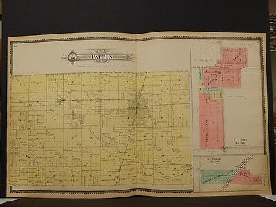 Illinois, Ford County Map, Patton Township 1901 J3#44 Double Page