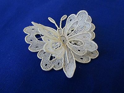 Antique French Needle  Lace  Double Wing Butterfly....