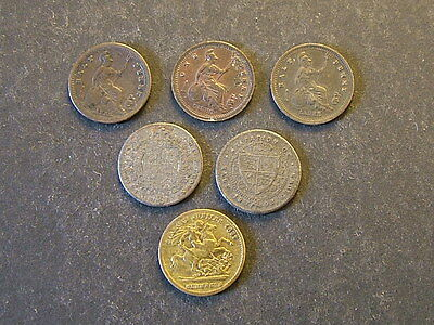 Small lot of model/toy coins by Lauer.