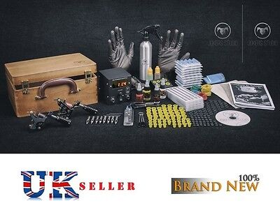 UK SELLER Tattoo Kit Sets full pro Power supply professional MACHINE Top USA INK