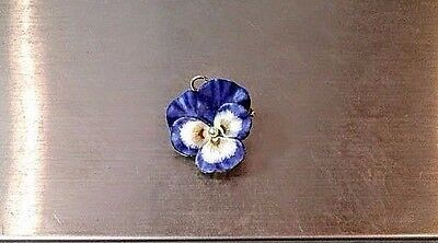 14k Yellow Gold Flower and Pearl Pin Brooch 5.6g