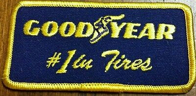 """VINTAGE Goodyear Good Year #1 IN TIRES RACING PATCH  2"""" x 4"""" NEW"""