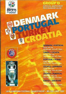 Euro96 Group 'D' Denmark, Portugal, Turkey, Croatia@ Forest + Sheff Wednesday