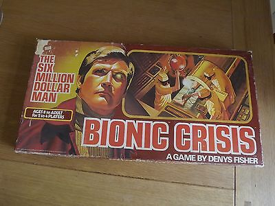 The Six Million Dollar Man Bionic Crisis 1976 Board Game
