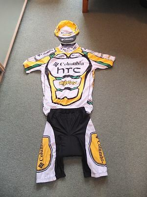 HTC Columbia Pro Team Cycling Kit Large - Jersey Shorts and Hat