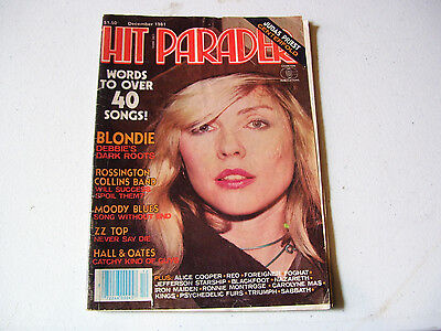 Collector Hit Parader Blondie Zz Top Hall & Oates Alice Cooper Foghat Sabbath